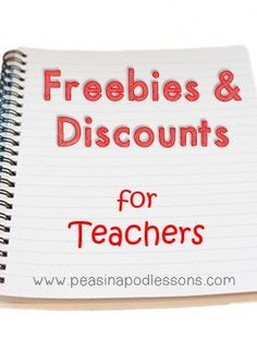 Freebies & Discounts for Teachers! - Peas in a Pod Lessons