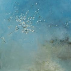 First Sighns   100cm x 100cm   Oil On Canvas Linda Felcey