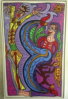 """Robert Combas """" Camille Sauvage""""  Rare peinture de Combas aux couleurs Pop Art Bad Painting, Neo Expressionism, Art Brut, Fauvism, Pins, Camille, Conceptual Art, Les Oeuvres, Pop Art"""