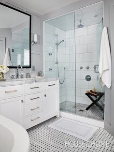 Modern Shower | Photo Gallery: Modern Bathrooms | House & Home | Photo by Donna Griffith