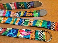 fused plastic bag belts - OMG!!!! I can't wait t0 try this