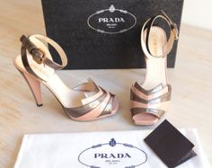Prada Patent High Heels in Pink & Brown Size 38
