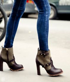 Mile-long legs, with army-inspired heels: Tory Burch Landers Bootie
