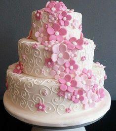 Pink Cakes, Desserts, Food, Tailgate Desserts, Dessert, Postres, Deserts, Meals
