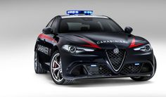 If you didn't already have a weird thing for police cars like I do, you will now. Alfa Romeo has revealed their 2017 Giulia Quadrifoglio for Italy's Carabinieri police force—a 500 horsepower manual Alfa Romeo police car. Alfa Romeo 2016, Alfa Romeo Cars, Ferrari, Lamborghini, Bugatti, Adventure Time Anime, Lizzie Mcguire, Carros Alfa Romeo, Alpha Romeo