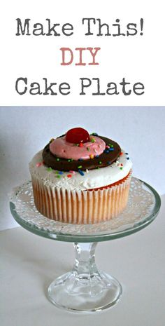 Make This! DIY Cake Plate