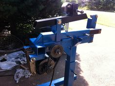 Belt Grinder by chiasson -- Greetings from Eastern Canada!  I recently came across your amazing forum and thought I'd share some pics of a 2x72 build that I'm working on. It's a work in progress still but we're slowly gettin there. I'll post more pics as it comes...