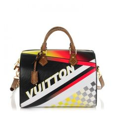LOUIS VUITTON Epi Race Speedy Bandouliere 30 ❤ liked on Polyvore featuring bags, handbags, tote bags, monogrammed tote bags, louis vuitton purse, zipper tote, white tote bag and handbags totes