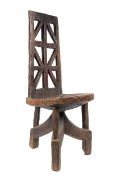 Africa | Chair from the Gurage people of Ethiopia | Wood | 20th century