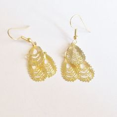 Earrings Handmade Goldtone Restyled Gift for Her Bridal Party Prom…