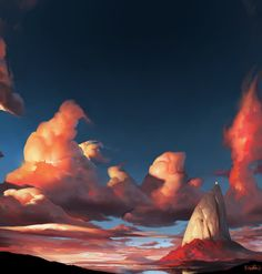 A Series on Painterly Landscapes on Behance
