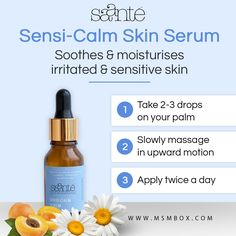 Saante Sensi-Calm Skin Serum  Soothes & moisturises irritated & sensitive skin.