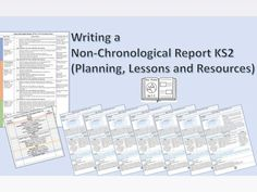 Writing a Non-Chronological Report (Planning, Lessons and Resources) Ks2 English, Primary English, Non Chronological Reports Ks2, Teaching Kids, Teaching Resources, Email Writing, Daily Lesson Plan, National Curriculum, Grammar Lessons