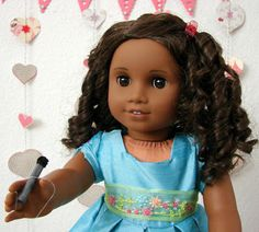 American Girl Doll Play: Doll Craft - Make Your Doll a Microphone :) soooo cute have to make