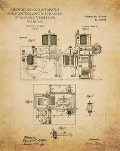 Nikola Tesla Radio Control Patent                                                                                                                                                                                 More