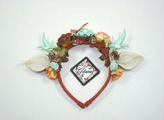 Rust Fall Antler Headband-Fall Deer Antler by DesignsbyGitana