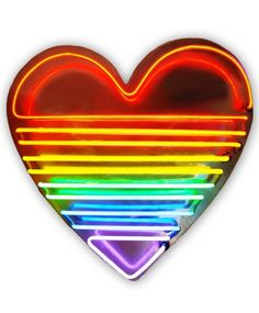 Rainbow Neon Heart, click for large Image