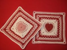 Ravelry: Center Heart Square pattern by Ginger Badger