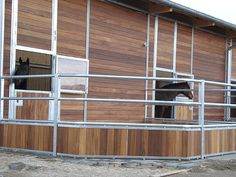 German stable barn with outdoor stalls