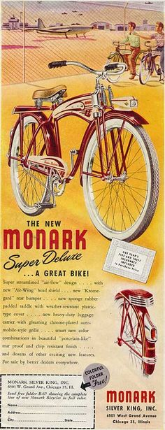 Monark Super Deluxe Bicycle 1940s...the SilverKing is back... Hello Janilo Navaja!!