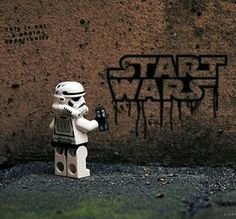 My brother collects the Star Wars Legos Star Wars Mädchen, Star Wars Girls, Star Wars Humor, Lego Star Wars, Boba Fett Action Figure, Anfield Liverpool, Lego Stormtrooper, Starwars Lego, Street Art