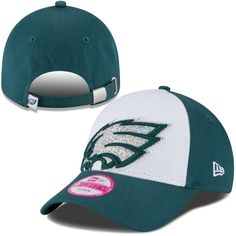 c21f0c49c5f Women s Philadelphia Eagles New Era White Glitter Glam 9FORTY Adjustable Hat