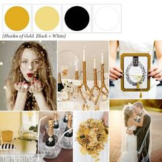 Color Palette - Mustard, Antique Gold, Black and White