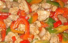 Χοιρινό με μουστάρδα και πιπεριές Shrimp, Salsa, Stuffed Peppers, Meat, Chicken, Vegetables, Ethnic Recipes, Food, Drink