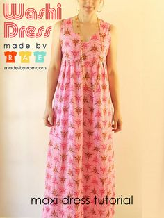 A little tutorial on how to make a fully-lined sleeveless maxi! by madebyrae, via Flickr