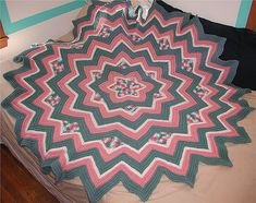 Ravelry: Six-Pointed Star Afghan by Sandra Jean Smith