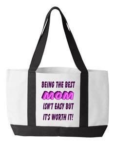 Being The Best Mom Tote Bag, Inspirational Mother's Day Gift, Best Mom Ever Carry All Bag, Mom Birthday Gift Birthday Gift For Wife, Anniversary Gifts For Wife, Great Gifts For Women, Call My Mom, Carry All Bag, Good Wife, Teacher Favorite Things, Inspirational Gifts, Best Mom
