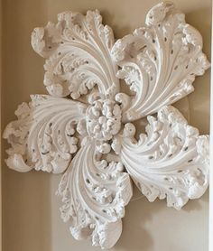 beautiful wall panels.  looks like icing!