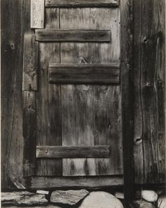 Paul Strand (American, 1890–1976), Barn Door, Vermont, 1944 (negative) / 1944 (print), gelatin silver print, 9 5/8 × 7 5/8 inches. Philadelphia Museum of Art, The Paul Strand Collection, purchased with Museum funds, 2010-14-116. © Paul Strand Archive/Aperture Foundation