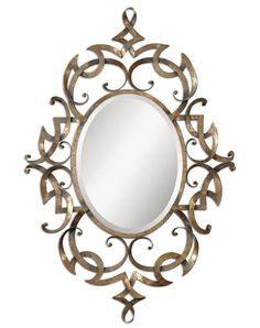 Buy the Uttermost 12807 Antique Gold Champagne Direct. Shop for the Uttermost 12807 Antique Gold Champagne Ameno Mirror and save. Antique Gold Mirror, Metal Mirror, Round Wall Mirror, Beveled Mirror, Mirror Mirror, Mirror Ideas, Mirror Collage, Mirror House, Mirror Bedroom