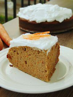 FIT CIASTO Z MARCHEWKĄ I KREMEM | Moje zdrowe słodkości oraz porady żywieniowe Let Them Eat Cake, Vanilla Cake, Banana Bread, Fitness, Diet