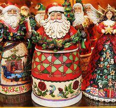 I collect Jim Shore Santas.