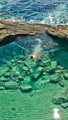 Giola lagoon in Thassos island, Greece
