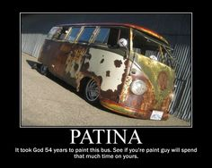 Rust is beautiful! Sweet Patina VW Bus! (find the typo)