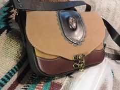 Ladies Medium size Handmade Leather Purse- Real Practical design by RoundOakLeather on Etsy