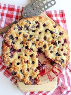Four Berry Pie Recipe on foodiecrush.com