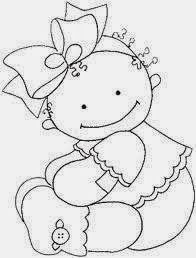 riscos desenhos pintura fraldas bebes ~ applique or let the kids color it Hand Embroidery Patterns, Applique Patterns, Embroidery Applique, Embroidery Designs, Coloring Book Pages, Coloring Sheets, Copics, Digital Stamps, Baby Cards