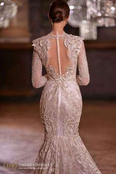 Milla Nova 2021 Spring Bridal Collection – The FashionBrides Vintage Lace Weddings, Gowns With Sleeves, Plunging Neckline, Bridal Collection, Mermaid Wedding, Wedding Gowns, Bodice, Formal Dresses, Nova