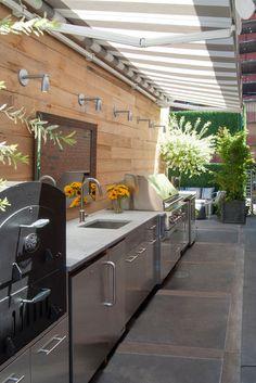 Contemporary Deck by Adrienne DeRosa- Roof top kitchen