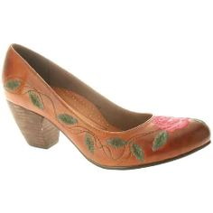 05dcb3ad649bce Leather pump with embroidered floral design- Hot or Not