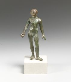 Bronze statuette of a youth  late classical period-early hellenistic  4th-3rd century BC  etruscan bronze