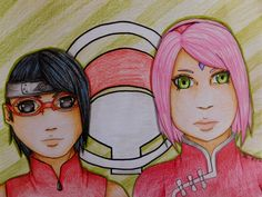 Mom and daughter... Sakura and Sarada <3 ..
