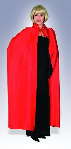 Full Length Red Satin Cape