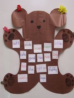 Teddy Bear Day and bear sleepover writing idea
