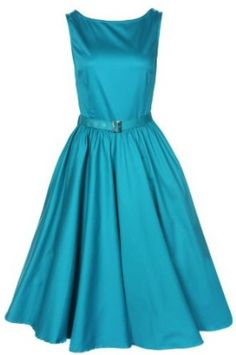 1950's Audrey Hepburn style swing party rockabilly evening vintage dress blue but in RED!!!