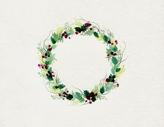 gorgeous plum wreath from happiness, etc. / luci